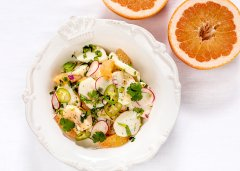 Scallop Ceviche with Ruby Red Grapefruit Supremes