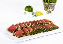 Herb Crusted Tuna with Ginger and Lime