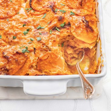 Yukon Gold Potato and Yam Gratin