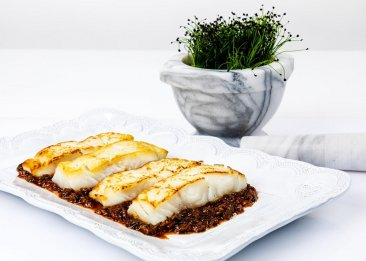 Wild Cod with Ginger, Soy and Scallions