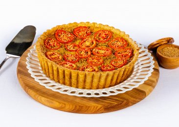 Caramelized Onion, Tomato and Gruyere Tart