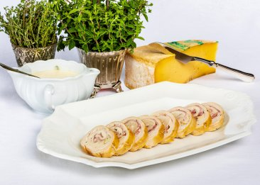 Chicken Roll with Ham and Cheese