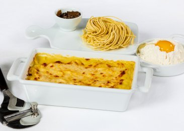 Egg Tagliolini with Cheese Fondue and White Truffle